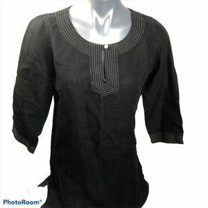 Anokhi 100% linen black tunic, like new